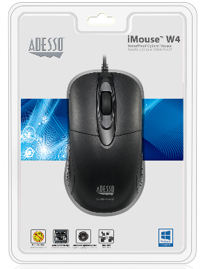 iMouse W4 - Waterproof Antimicrobial Optical Mouse