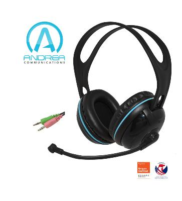 Andrea EDU-455 Stereo Computer Headset Over Ear (2x3.5 mm)
