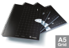 A5 Single Subject Grid Notebook 4Pk