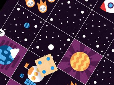 Primo Cubetto Deep Space Map