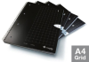 A4 Single Subject Grid Notebook 4Pk