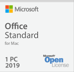 Office for Mac Std 2019 Academic (not available for individual staff & students)